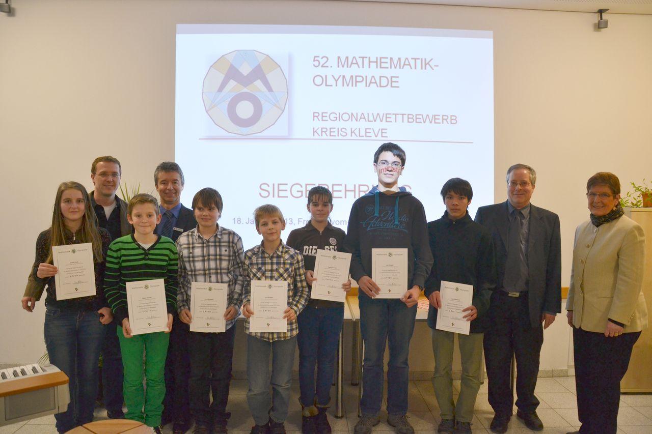 Drei Steiner sind Kreismeister der Mathematik-Olympiade