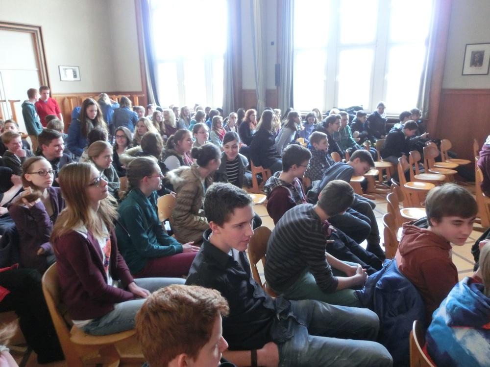 Zeitzeugin Eva Weyl im Freiherr-vom-Stein-Gymnasium Kleve