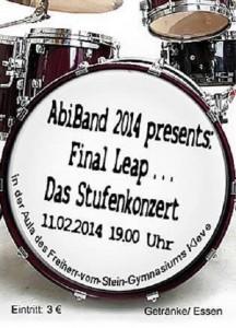 AbiBand2014 Stufenkonzert Flyer