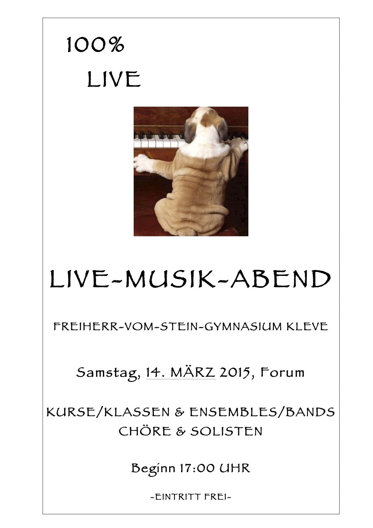 Herzliche Einladung zum Live-Musik-Abend!