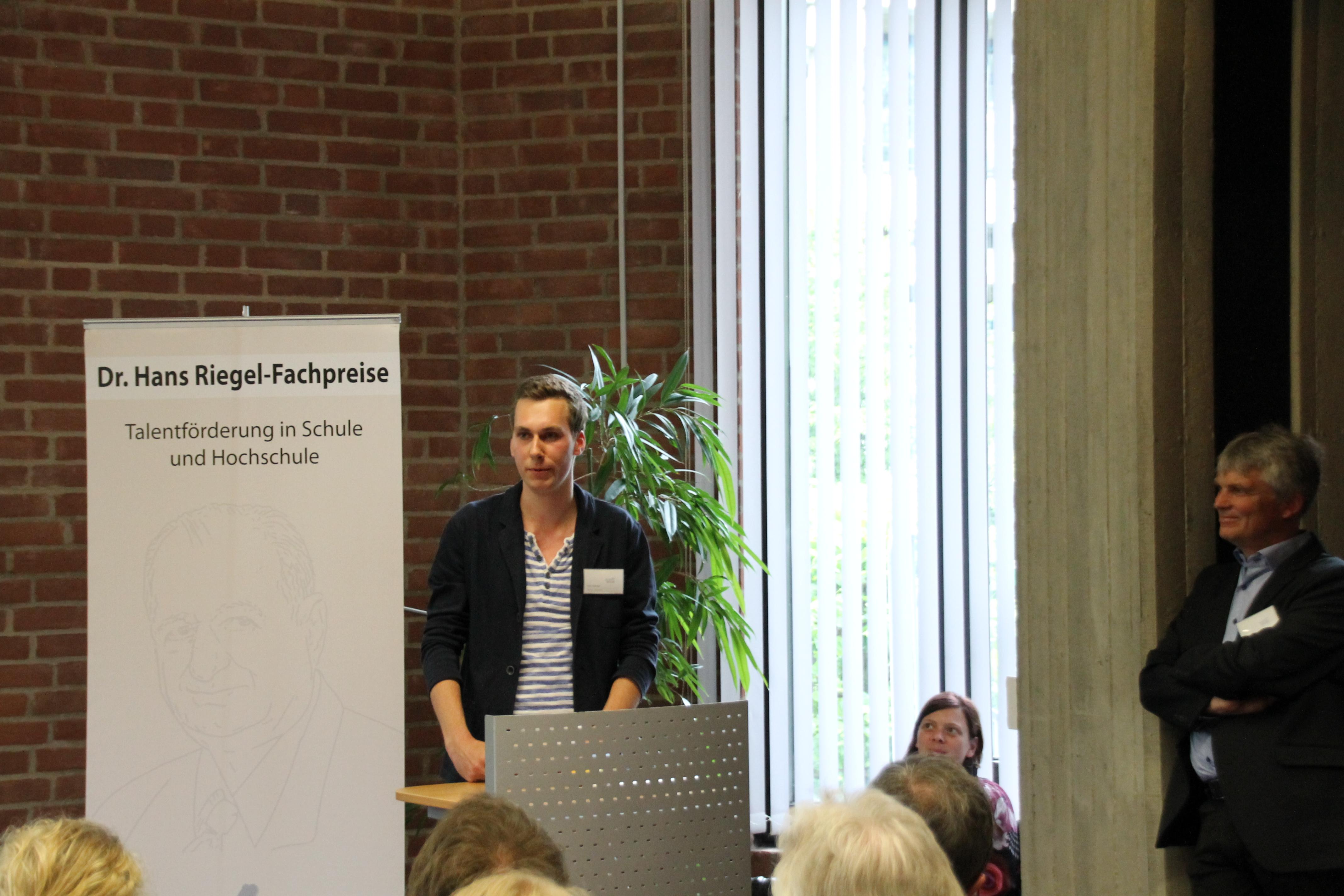Dr. Hans Riegel-Preis für Felix Reichel vom Freiherr-vom-Stein Gymnasium