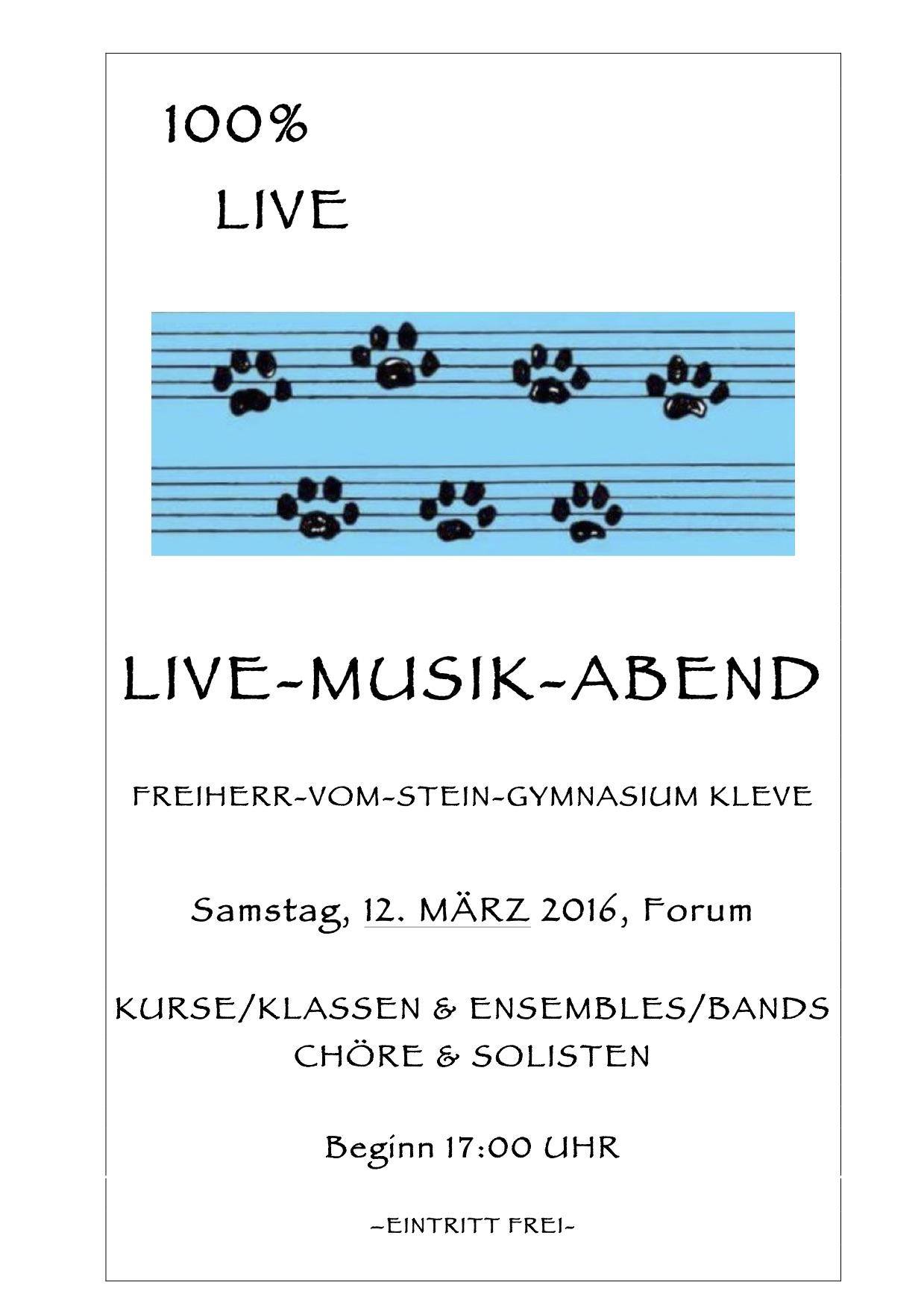 Einladung zum Live-Musik-Abend :-)