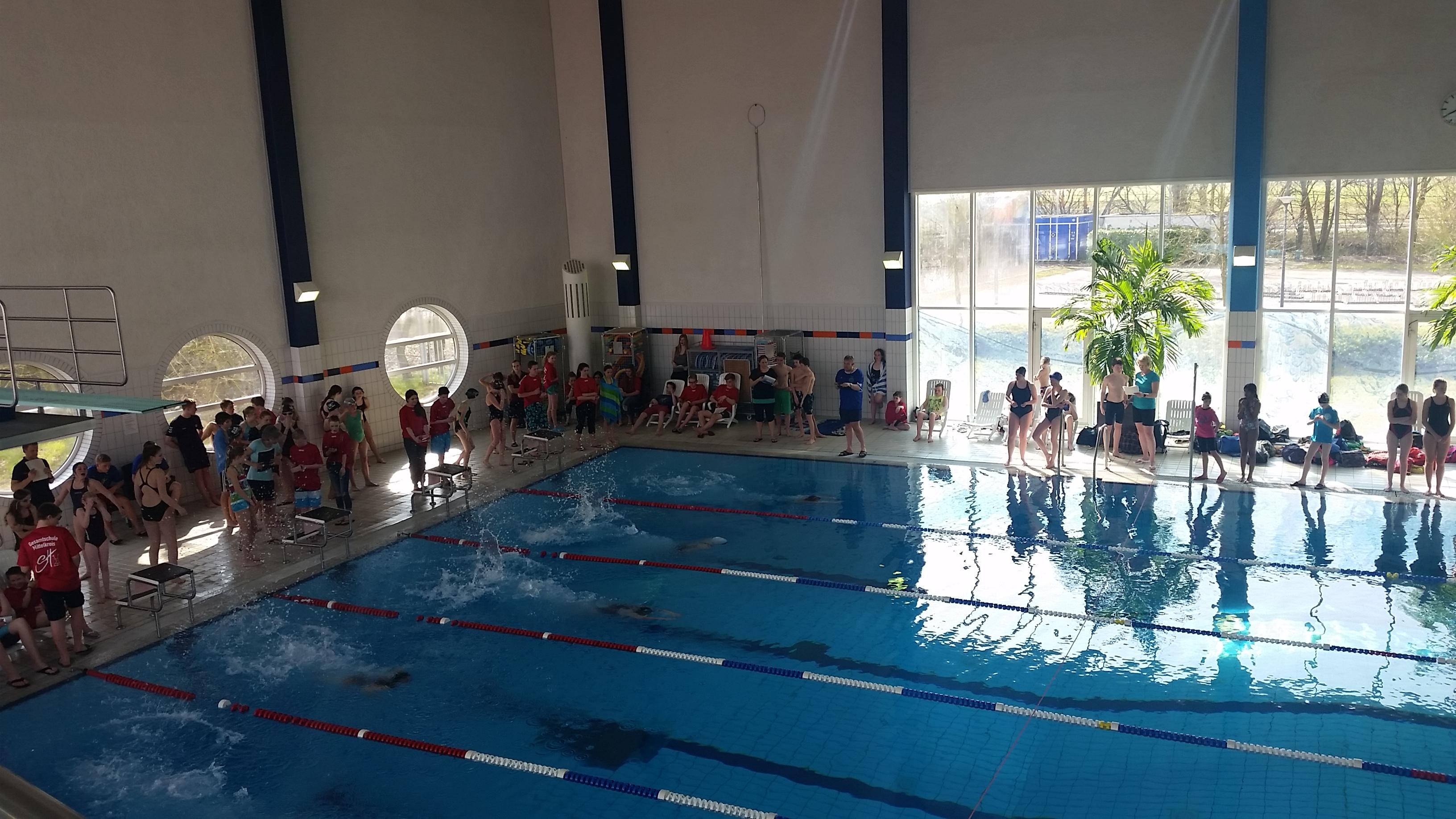 Erfolgreicher Schwimmwettkampf der Schulen 2016