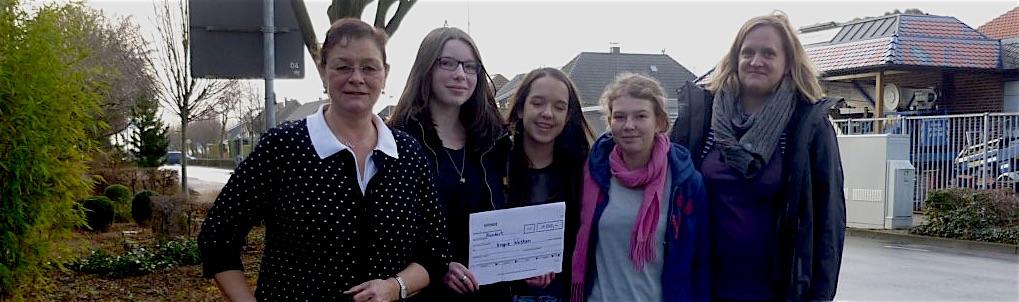 Spendenaktion des Religionskurses 9a/b zugunsten des Hospizes in Wetten