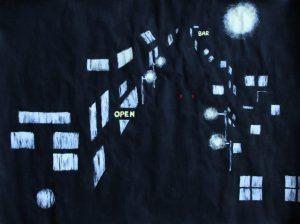 """""""Nachtbilder"""" in Anlehnung an A. Katz - ein Kunstprojekt der Jahrgangsstufe 9"""