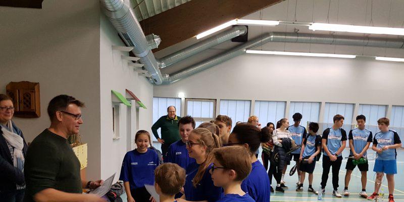 1. Platz im Badminton