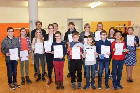 Stein-Schüler räumen Preise bei der Mathematik-Olympiade ab