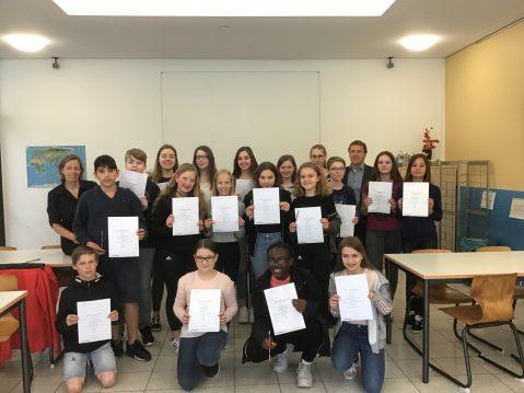 Ehrung Bundeswettbewerb Fremdsprachen 2019