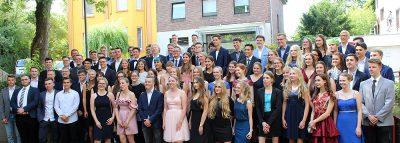 Glückliche Abiturienten 2019