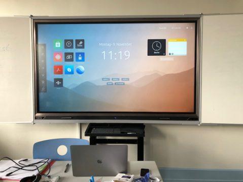 Ein neuer MeilenStein – Digitale Tafeln in allen Unterrichtsräumen